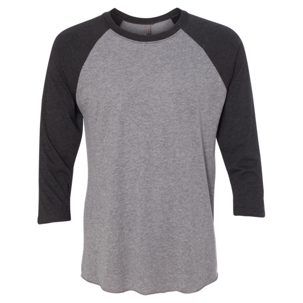 f20651df44d Next Level - Tri-Blend Baseball Raglan Tee Easy and Affordable custom t- shirt printing